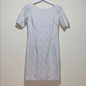 ANN TAYLOR Cream Short Dress. Sz 4P